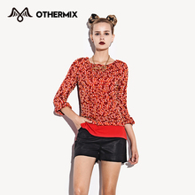 OTHERMIX Women 2016 Knitted Pullovers O-Neck Faux Sweater Three Quarter Sleeve Casual Pullover Sweater Female(China (Mainland))