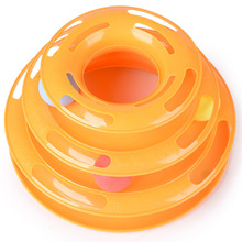 Creative Pet Cat Toy Luxury Cat  Interactive Pet Toy Training Amusement Plate Trilaminar Crazy Ball Disk Play Activity Game(China (Mainland))