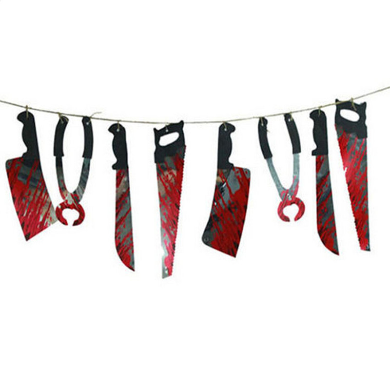 Spooky Halloween Party Haunted House Hanging Garland Pennant Banner Decoration Event Party Supplies GM358(China (Mainland))