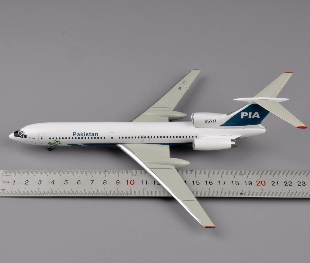 Collectible Airplane 1/200 Scale Diecast Aircraft Model Aviation200 PIA Pakistan TU-154M Gift Toys(China (Mainland))