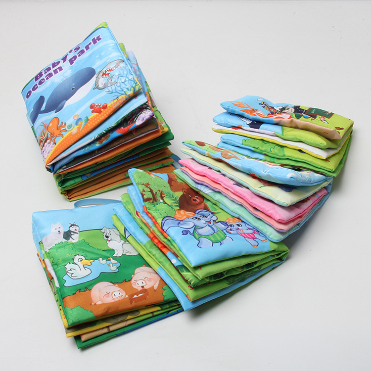 One Piece Retail Baby Toys Infant Kids Early Development Cloth Books Colorful Educational Unfolding Activity Book(China (Mainland))