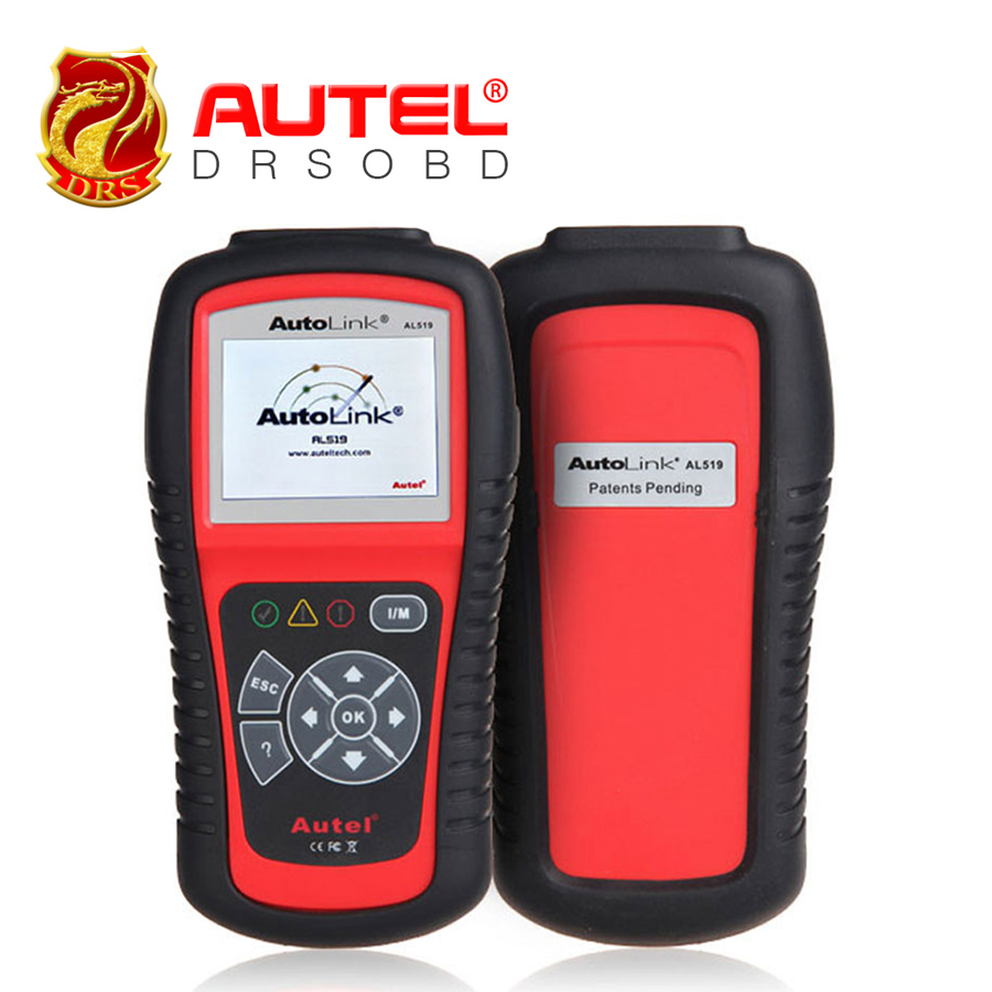 100% Original Autel AL519 with Color Screen OBDII/CAN Scan Tool Auto Code Scanner Update Online Free Shipping(China (Mainland))