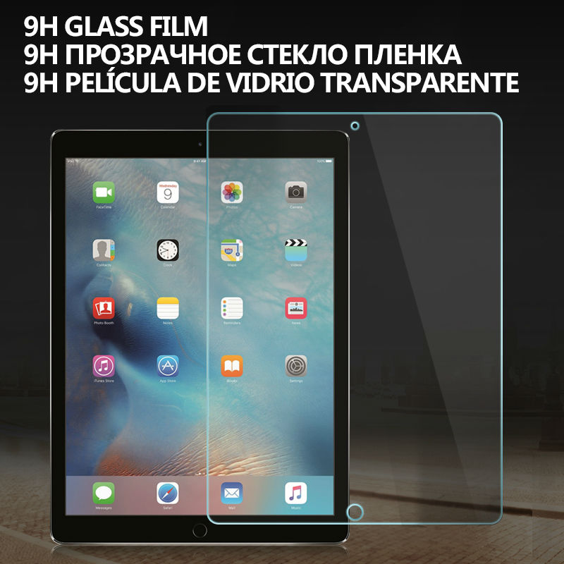 Tempered Glass Screen Protector for iPad Pro 12.9 9H 0.33mm Anti Fingerprint Anti Scratch Dust Proof Front Cover Protective Film(China (Mainland))