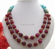 Agate&Turquoise&Rhinestone Necklace(China (Mainland))