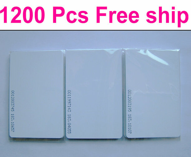 Free Ship Total 1200pcs=1 order o RFID ID Card EM ID thickness 0.8mm Card Proximity EM Thin Card/ID card,125KHZ with number/code(China (Mainland))