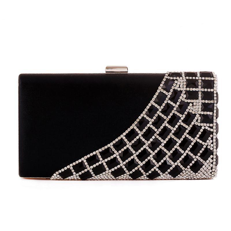 2016 Women's Top Quality Glass Diamonds Casual Clutch Evening Bag Lady OL Classic Crystal Wedding Handbags Party Bag Phone Bags