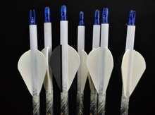 6pcs 30 Archery Carbon Arrow with Replaceable Arrows Head Fit for 40 60lbs Compound Bow Spine