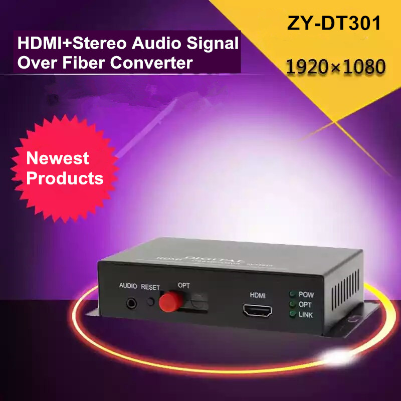 ZY-DT301 20km HDMI Over Fiber Optic Audio Converter 1080P HDMI Optical Video Transmitter TX RX Extender Over SC / FC Fiber Cable(China (Mainland))