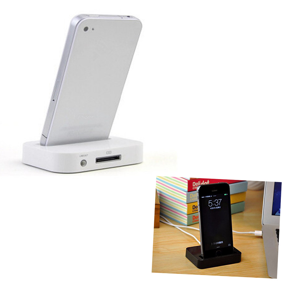 Black White Charging DOCK Stand Docking Station Charging Station for Apple iphone 4S/ iPhone 4 Gift Free shipping(China (Mainland))