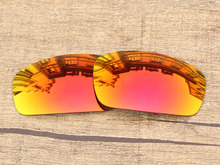 Polycarbonate-Fire Red Mirror Replacement Lenses For Monster Pup Sunglasses Frame 100% UVA & UVB Protection