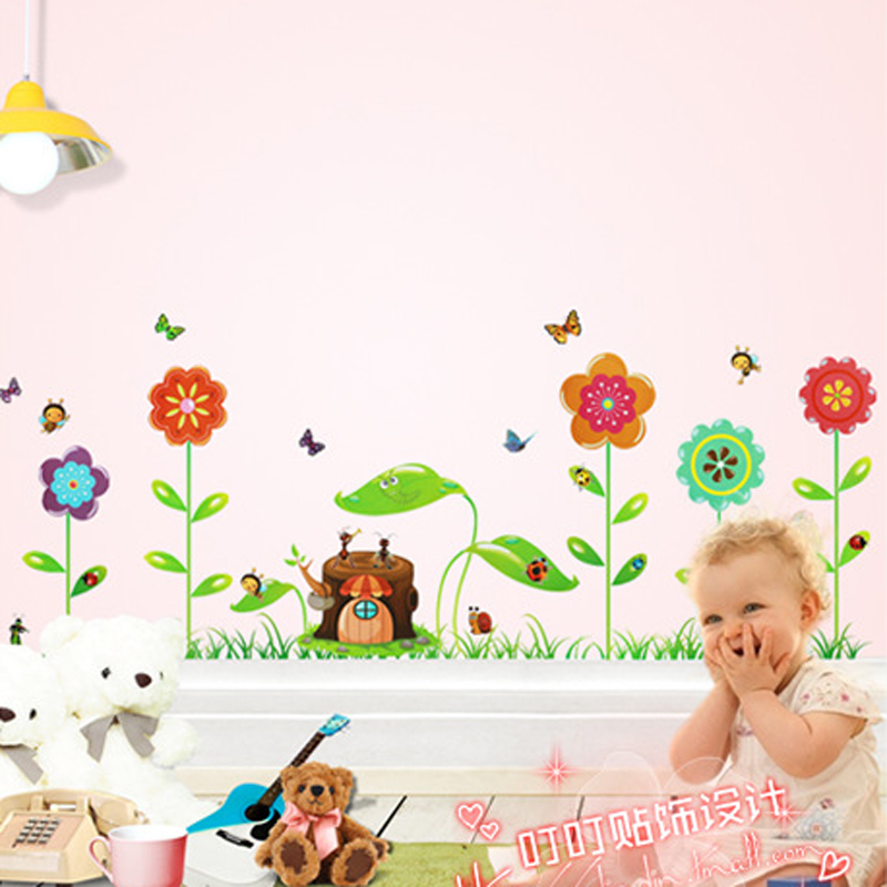 1pcs Fairy Grass Concert Wall Decals Vinyl Stickers Kids Bedroom Living Rooms Mural Nursery Home Accessories adesivo de parede(China (Mainland))