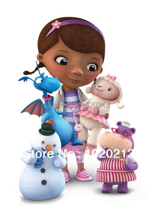 2014 New Cartoon Plush Toys Doc McStuffins Doll 25cm+Stuffy 25cm+Chilly 19cm+Hallie 25cm+Lambie 25cm Set