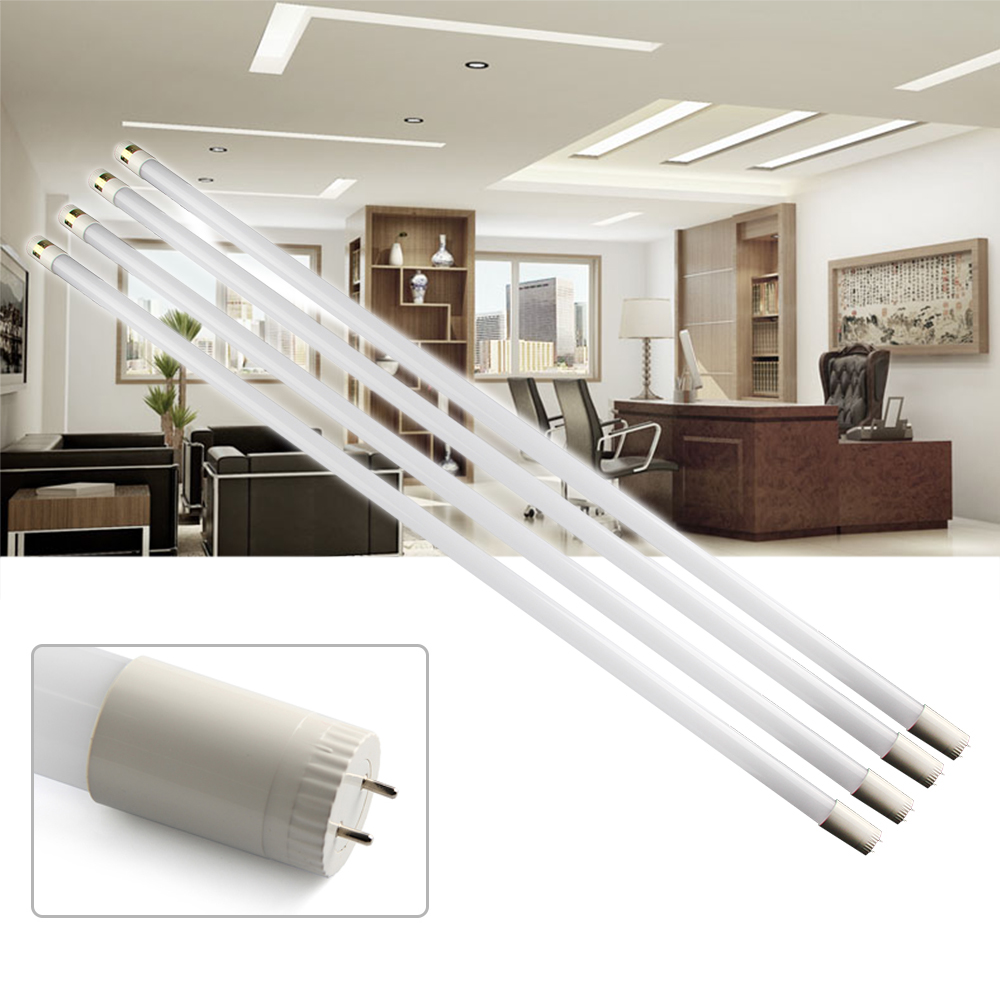 US Ship - 4PCS T8 SMD2835 LED LB 120cm 18W LED Fluorescent Tube Light Cool White Bulb 85V-250V(China (Mainland))