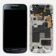 Новое для Samsung Galaxy S4 mini I9190 i9195 жк-дисплей сенсорный экран планшета ассамблеи с рамкой синий цвет
