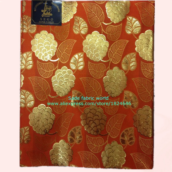 Free shipping Wholesale price orange red flower design African head wear gele series nice sego head tie Sa-52-22(2pcs/pack )(China (Mainland))