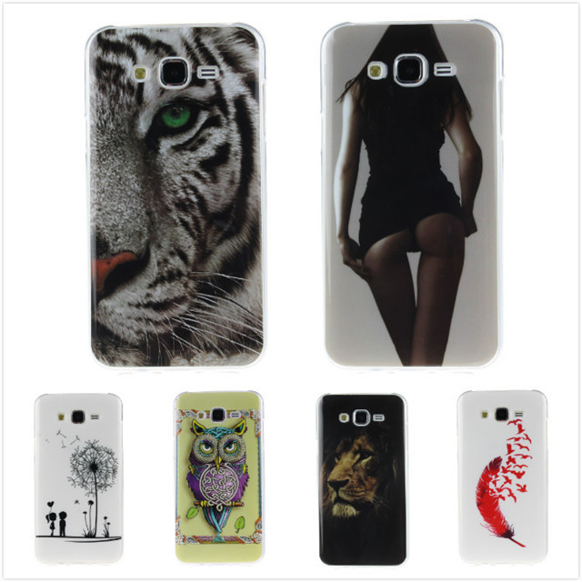 Cartoon High Quality Glossy Soft TPU Case Silicon Protector Back Cover Owl Phone Case for Samsung Galaxy J7 J700H J700F J700(China (Mainland))