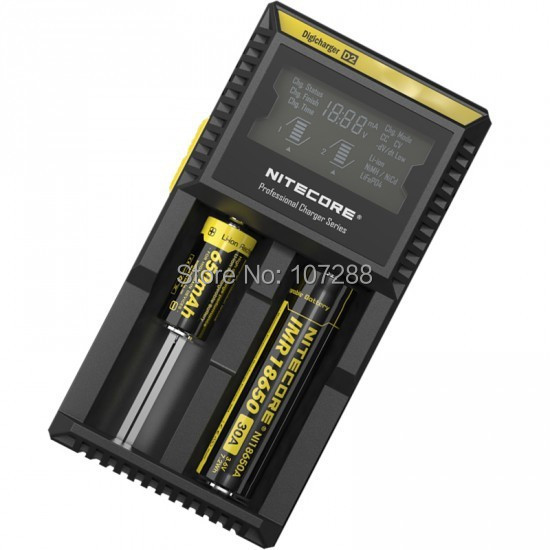 Nitecore D2 LCD Microcomputer Controlled Intelligent Charger Li-ion,NiMH Battery Charge Suitable 18650,16340,CR123(China (Mainland))
