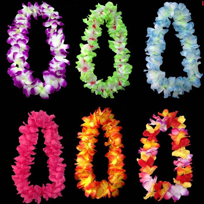 Hawaiian Beach Party Hula Garland Leis Necklace Lei Multiple Colors(China (Mainland))