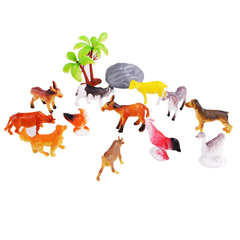 Forest Farm Animal Models Farm Animals Figures Set Toy Kid Children Early Learning Development Toys(China (Mainland))