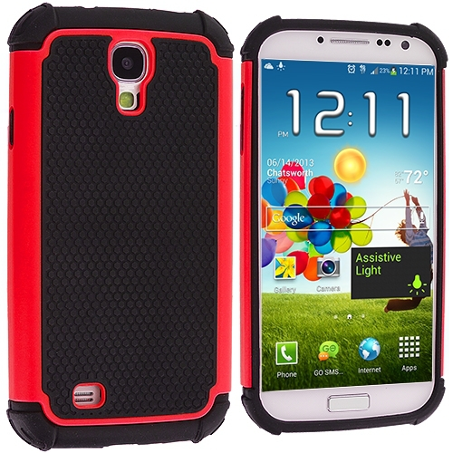 For Samsung Galaxy S4 i9500 Hybrid Rugged Shockproof Matte Hard Color Case Cover USA SELLER - SHIPS WITHIN 1 BUSINESS DAY(China (Mainland))