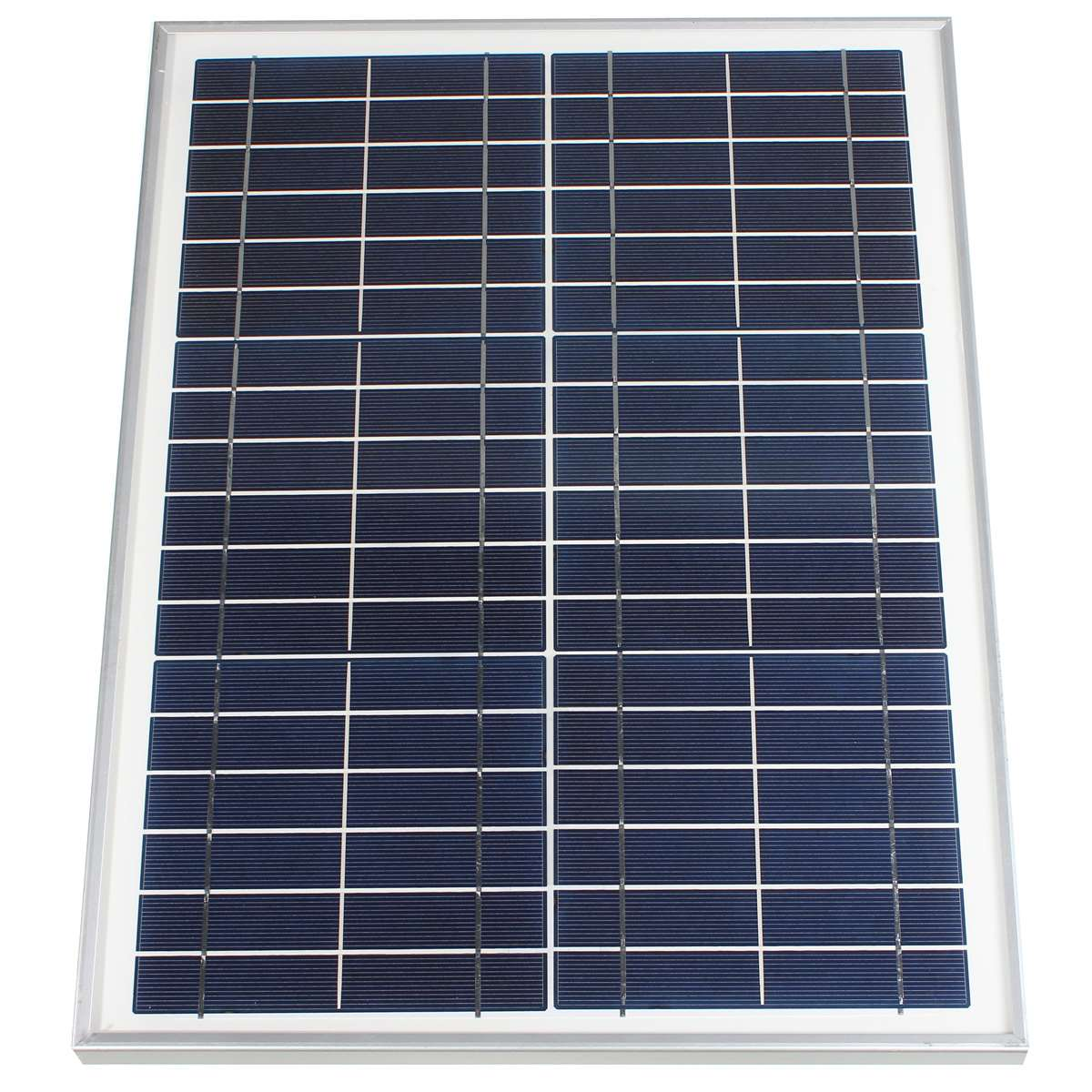 12V 20W Polycrystalline Stored Energy Power poly Solar Panel Module System Solar Cells Charger+300cm Cable+2x Alligator Clips