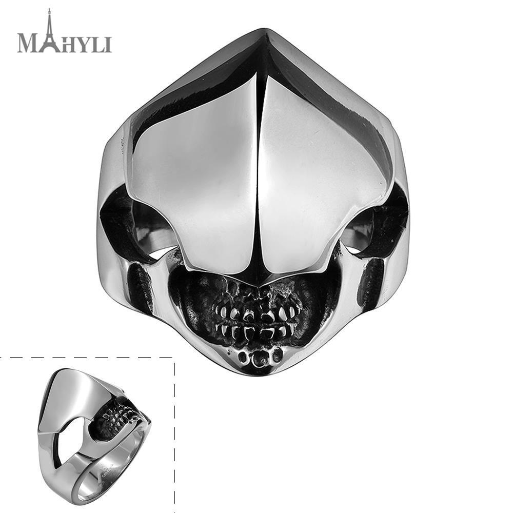 MAHYLI vintage Black Men Rings Stainless Steel Profiled Alien Rings Wholesale Punk Carbon Fiber Wedding Rings for Men Jewelry(China (Mainland))