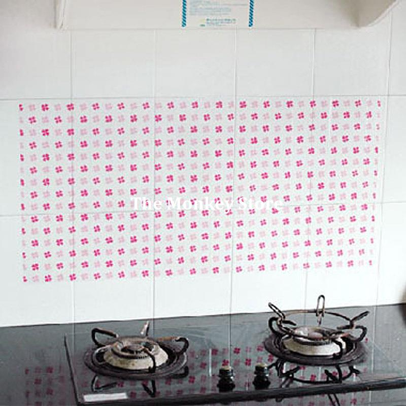 90*45CM Flower Kitchen Wall Stickers Decal Home Decor Art Accessories Decorations Supplies Gear Items Stuff Products F3688(China (Mainland))