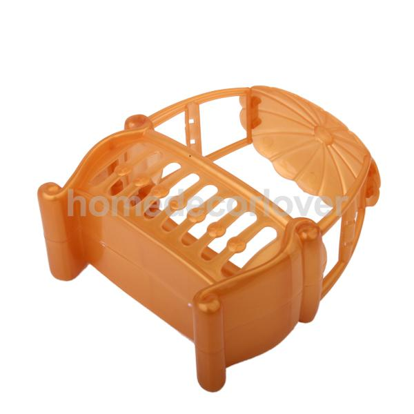 FASHION Dollhouse Miniature Furniture detachable Canopy Baby Cot for Kelly NEW(China (Mainland))