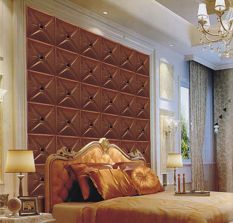 Sound absorbing 3d wall panels bedroom leather wall decor for 3d wall designs bedroom