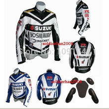 Top Selling High Quality 2 Colors Brand Motorcycle Jacket Racing Driver's Jacket Suzuki Jacket, Black and Blue  Riding Jacket(China (Mainland))