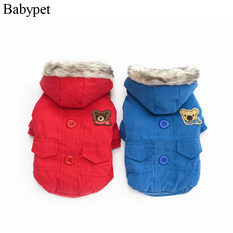 Newest hoodie dog clothes winter solid blue red pet dog coat jacket dogs clothing puppy dog chihuahua yorkshire