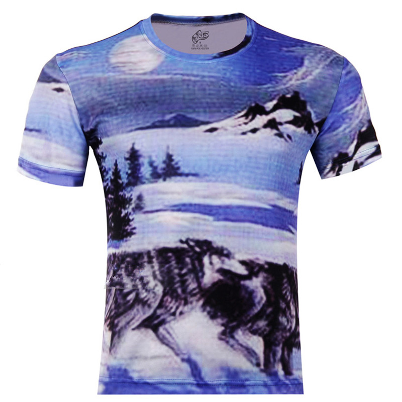 Grassland wolf animal 3d print children t shirt boys girls for Leopard print shirts for toddlers