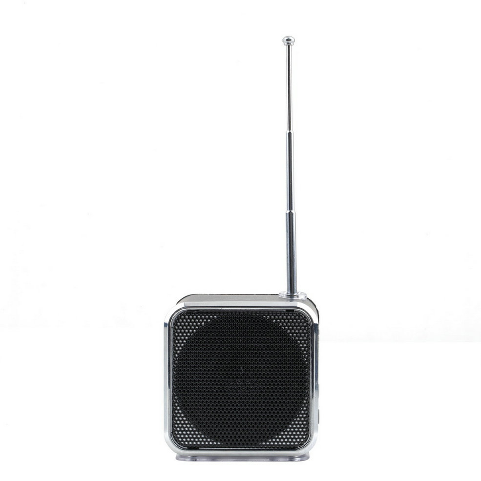 1Pc fluorescence surface Audio Player Speakers Portable Stereo Music USB FM for Computer Phone Music Angle MP3 Players Newest(China (Mainland))