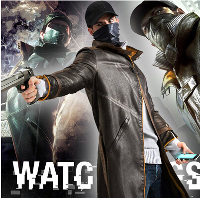 Watch Dogs Cosplay Aiden Pearce Costume Wind Coat Cap Hat Scarf Face Mask One Set Cosplay Game Costume Cap(China (Mainland))