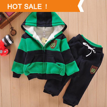 Boys Girls Children Hoodies Winter Wool Sherpa Baby Sports Suit New 2015 Jacket Sweater Coat & Pants Thicken Kids Clothes Sets(China (Mainland))