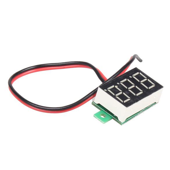 Mini DC 2 5 30V Red LED Panel Voltage Meter 3 Digital Display Voltmeter E1Xc