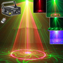 Free shipping SUNY 3 Lens 16 Patterns Red Green RG Laser BLUE LED Stage Lighting DJ