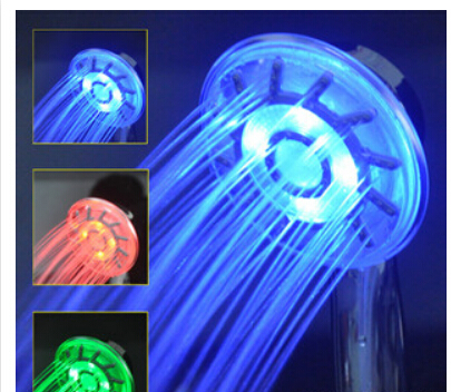 shower head Hand-held LED shower temperature control of high quality ABS material glow thermostatic shower(China (Mainland))