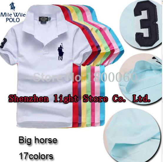 horse logo famous brand mens solid polo ralph shirt camisa masculina for men fashion man designer casual blusas shirts tops tees(China (Mainland))