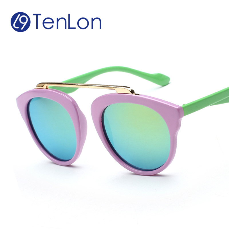 Tenlon Multicolor Round Peltate Shape Kids Sunglasses Children Fashion baby kids Sunglasses Oculos De Sol Gafas infantile