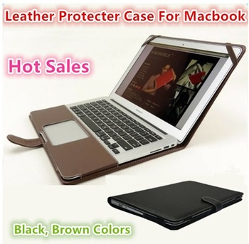 Fashion Leather Sleeve Case For Macbook Air 11 Air 13 Pro 13 Pro 15, Shell Cover Bag For Laptop, Wholesales, Drop Free Ship