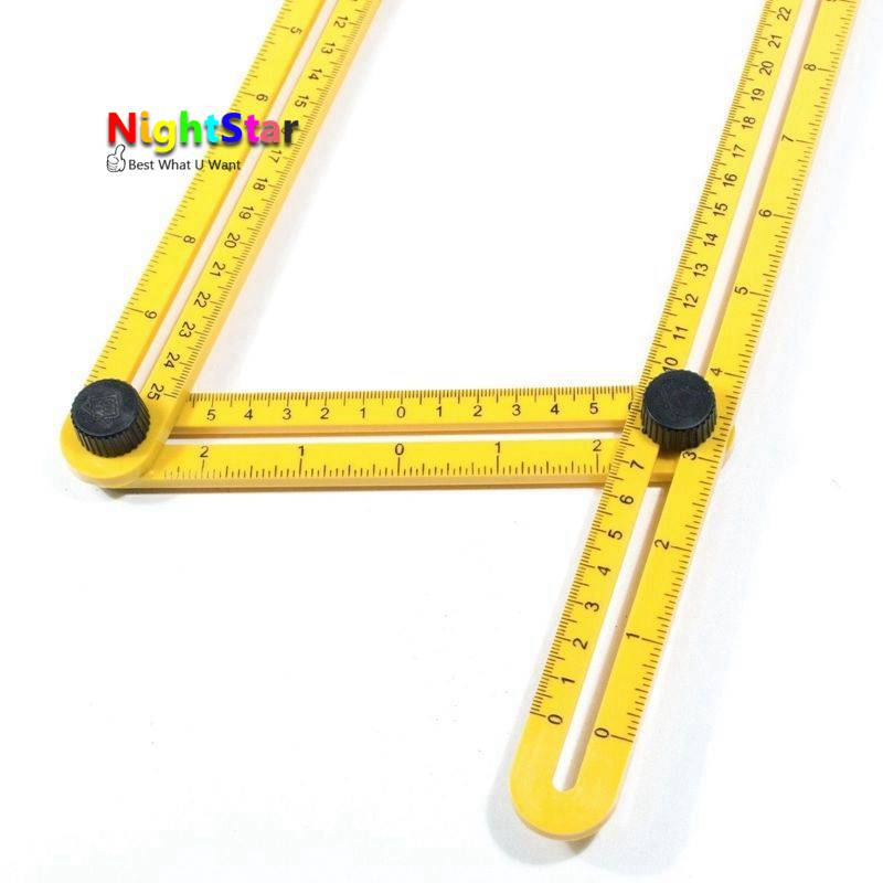 Four-Sided Ruler Measuring Instrument Template Angle  Tool Mechanism Slides