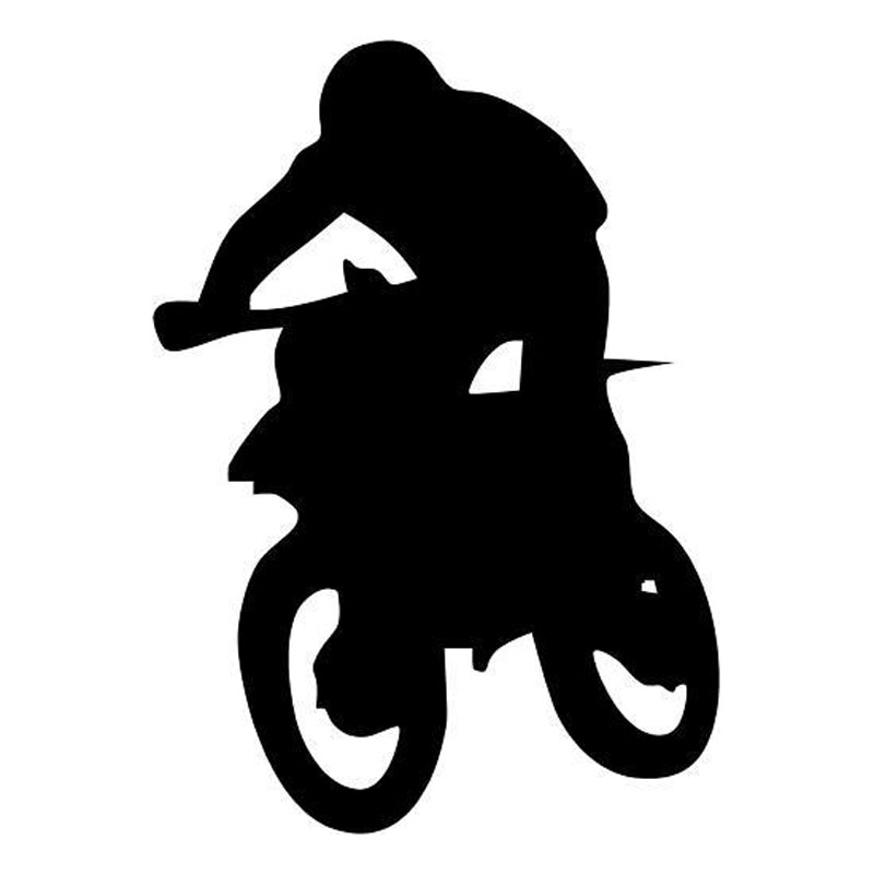 6.7*9.5CM Motocross Car Sticker Fun Racing Motorcycle Applique Accessories Black Silver C2-0526(China (Mainland))