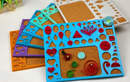 DIY Quilling Template Pattern Board MOULD With Cork