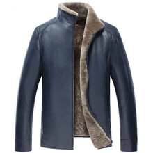 Men's wear A short paragraph Stand collar Sheep Skin and fur Leather clothing Leather jacket Male fur coat  WXN017(China (Mainland))