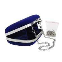 Design New Ladies Clutch Evening Handbag Cocktail Party Dress Shoulder Chain Bag Red/Black/Pink/Blue(China (Mainland))