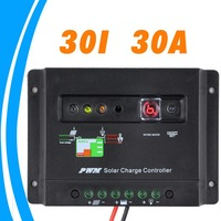 30A 30 Amps Solar Charge Controller with light and timer controller PV battery Charge Regulator