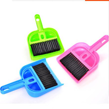2016 Multifunctional and Lovely Mini Desktop Computer Keyboard Clean Sweep Dust To Dust Small Broom Brush Set With Dustpan Shove(China (Mainland))