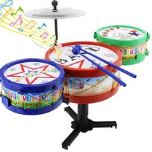 Children Musical Instruments Toy Kids Colorful Plastic Drum Drum Kit Set Music Educational Toy Free Shipping(China (Mainland))