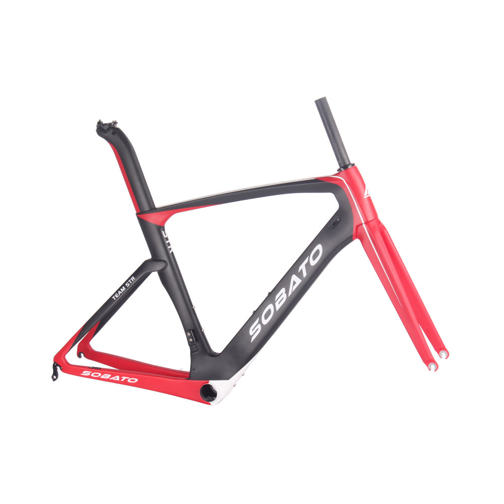 HOT Sale! 2016 SOBATO Newest Painting Red Black White 3Colors Carbon Frame Road Bicycle Frameset(China (Mainland))